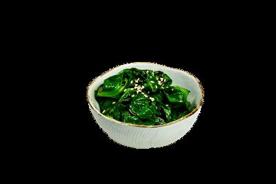 104. Spinat mit Sesamsoße (vegetarisch)